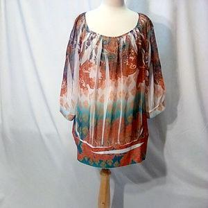 Lane Bryant size 18/20 banded colorful tunic